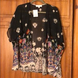 Floral sheer cardigan/cover up